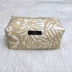 NWT Kate Spade Palm Leaf Medium Davie Makeup Bag